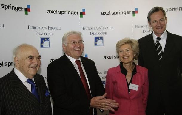 Arthur George Weidenfeld, Frank-Walter Steinmeier, Friede Springer und Mathias Döpfner