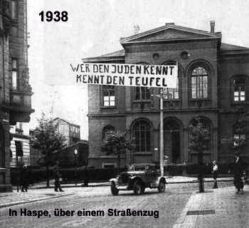 Zur Zeit der 2. Aufklärung (1933-1945) prangten die Worte des christlichen Erlösers auf Plakaten und Transparenten.