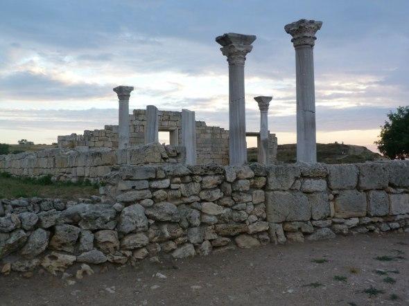 Die griechische Stadt  Chersones befindet sich im Süden von Sewastopol, die Ausgrabungen werden noch Jahrzehnte in Anspruch nehmen