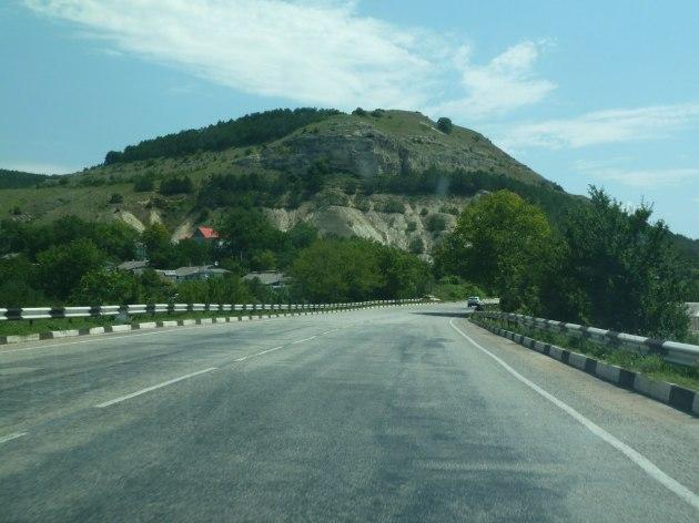 Die Gegend um Simferopol in Richtung Festland (Ukraine)