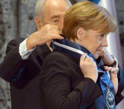 Merkel wird am 25. Februar 2014 von Israel für treue Dienste geehrt.