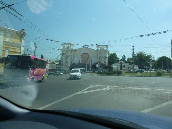 Simferopol, an einem Kreisverkehr in Stadtmitte