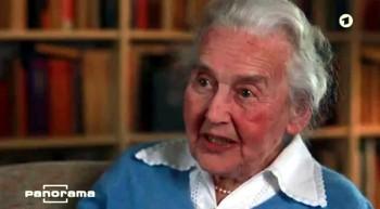 Als Ursula Haverbeck kürzlich dem NDR-Fernsehen (Panorama) ein epochales Interview gab, bezog sie sich auf die Dokumentation der sogenannten