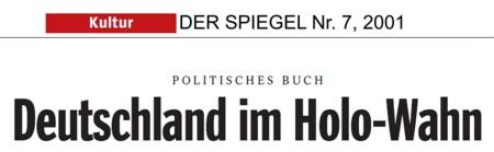 """Prof. Norman Finkelstein: """"Eine Hand voll amerikanischer Juden hat den Holocaust gekapert, um Europa zu erpressen. Deutschland hat das Recht, sich gegen den Gebrauch des Holocaust zu wehren"""". ... """"Der Holocaust ist zu einem Instrument der Bereicherung verkommen, zum Wiedergutmachungsschwindel."""" ... """"Ich bin nach Deutschland gekommen, um kriminellen Erpessern das Handwerk zu legen."""" ... """"Die Holocaust-Industrie erpresst die Deutschen und täuscht die ganze Welt in einem Sumpf von Lüge, Kommerz und Korruption."""""""