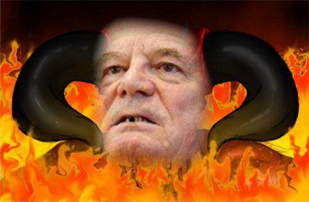 Die politische Verkommenheit eines Gauck kann man nur noch mit einem Satans-Bildnis zu erklären versuchen. Worte reichen dafür nicht mehr aus.