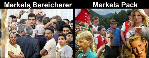 """Merkel badet gerne unter den Bereicherern. Die Deutschen verachtet sie und nennt sie mit Gabriel """"Pack"""""""