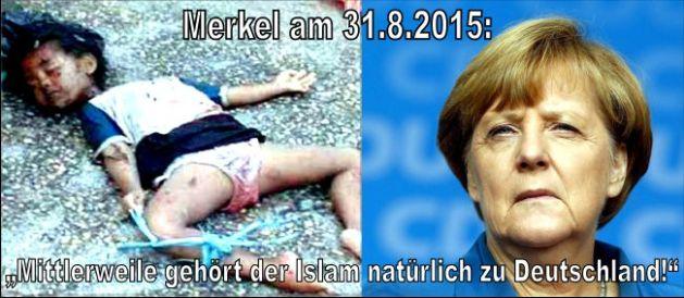 """Das massenhafte Abschneiden von Kinderköpfen, weil deren Eltern Christen waren , ist Teil des Islams. Der köpfe-abschneidende Staat nennt sich sogar ISLAMISCHER STAAT. Und es gibt nicht zweierlei Islam, wie uns Experten versichern: Doch Merkel hat gesprochen: """"Abgeschnittene Kinderköpfe gehören zu Deutschland""""."""