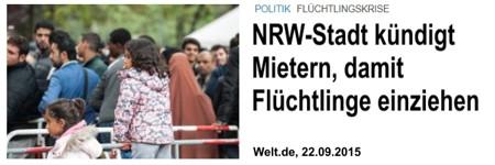 """Merkel macht Deutsche zu Flüchtlingen im eigenen Land, sie lässt die Deutschen aus ihren Wohnungen vertreiben, damit fremde Parasiten einziehen können. In Nieheim wird mittlerweile an jeder Ecke die Wut der Deutschen wie folgt zum Ausdruck gebracht: """"Vidal und Merkel werden geköpft"""". Da braut sich was zusammen."""