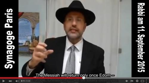 """""""Ich frage euch: Sind das nicht wunderbare Nachrichten, dass der Islam Europa überrennt? Der Messias wird erst kommen, wenn Edom, also Europa und die Christenheit, vollkommen zerstört sind. Ja, das sind wunderbare Nachrichten."""" (https://www.youtube.com/watch?v=8NvucCh_BO0)"""