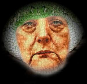 Repto-Merkels Politik zielt auf das Leben des deutschen Volkes. Die Deutschen sollen sterben!