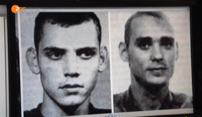Bitte merken Sie sich diese Gesichter: Es handelt sich um die angeblichen NSU-Täter Uwe Böhnhardt und Uwe Mundlos. Vergleichen Sie diese Gesichter mit den Phantombildern der wirklichen Täter.