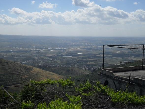 Aussicht von der Burg Krak des Chevaliers