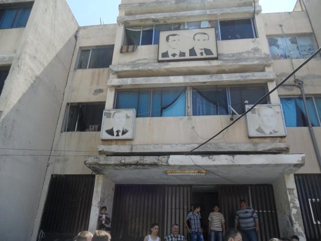 Eine ehemalige Schule dient als Unterkunft für die Geflüchteten