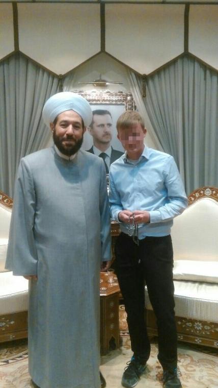 Beim Besuch im Ministerium für Religion treffe ich den Großmufti Ahmad Badreddin Hassoun