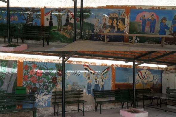 Wandmalereien in Syrien bekunden einen patriotischen Geist