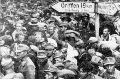 Kurz vor Bleiburg - die auf ein humanes Kriegsende hoffenden Soldaten der Achsenmächte wurden in Bleiberg bitter enttäuscht - sie alle wurden gnadenlos Titos Mordbanden ausgeliefert! Tito heißt schließlich auf deutsch Terror!