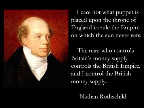 (Wer die Geldmenge eines Volkes kontrolliert, kontrolliert das Volk)