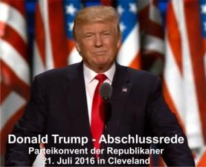 Donald Trump wurde am 18. Juli 2016 auf dem Partei-Convent der Republikaner zum Kandidat der US-Präsidentschaftswahlen nominiert. Er dürfte mit der weißen Wählerschicht die Hexe Clinton schlagen.