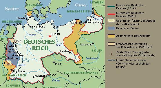 Versaille-Vertrag-1919-gebietsverluste