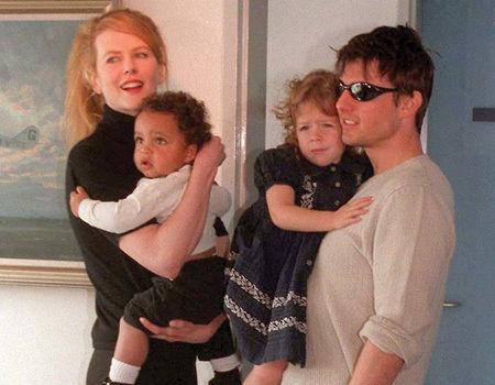 Nicole Kidman und Tom Cruise mit ihrem Adoptivsohn Connor und ihrer leiblichen Tochter Isabella.