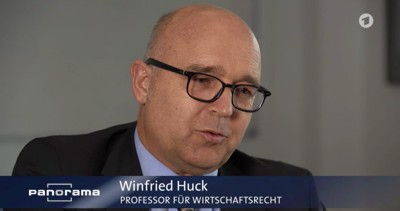 """Prof. Winfried Huck: """"Man kann sicherlich sagen, das US-amerikanische Recht gilt nicht in Europa und nicht unmittelbar in Deutschland, aber es wirkt."""""""